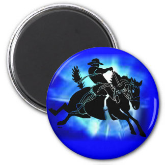 Saddlebronc 202 imán redondo 5 cm