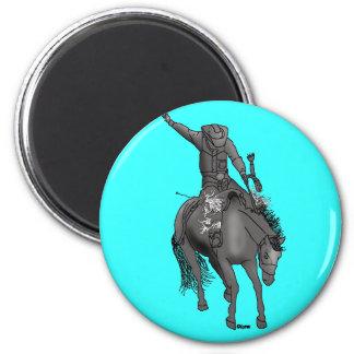 Saddlebronc 400 imán redondo 5 cm
