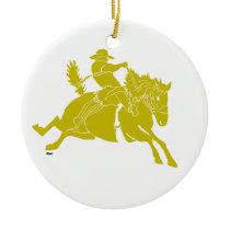 SaddlebroncGold copy Ceramic Ornament