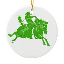 SaddlebroncGreen Ceramic Ornament