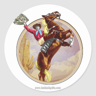 Saddled and Ready... Classic Round Sticker