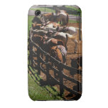 Saddled horses in corral Case-Mate iPhone 3 case