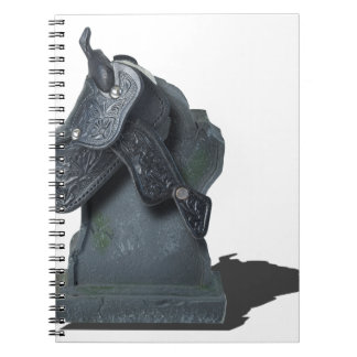 SaddleOnHeadstone070315 Spiral Notebook