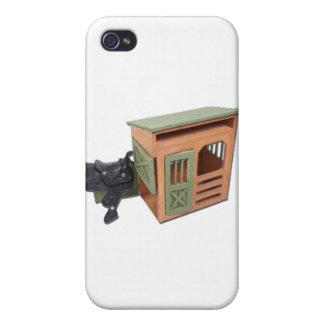 SaddleOnWoodenShed022111 Cases For iPhone 4