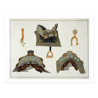 Saddles and spurs, plate from 'A History of the De Postcard