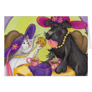Sadie and Kitty Tea / Notecard Stationery Note Card