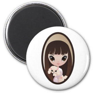 Sadie and Sweet Tart 2 Inch Round Magnet