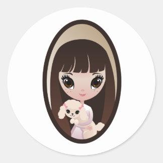 Sadie and Sweet Tart Classic Round Sticker