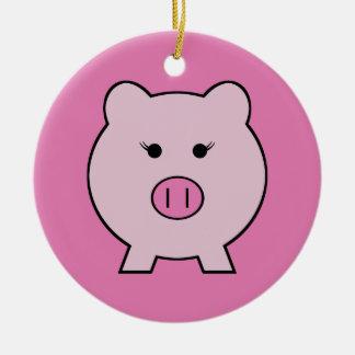 Sadie el cerdo rosado adorno de navidad