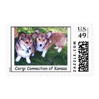 Sadie & Harry: Corgi Connection of Kansas Postage Stamp