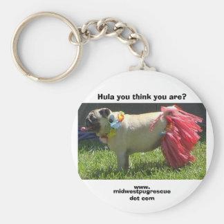 Sadie May hula girl, Hula you think you are?, w... Basic Round Button Keychain