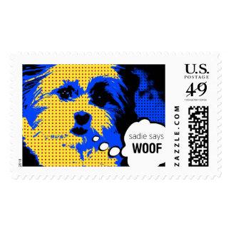 Sadie Says Dog Stamp
