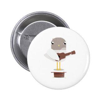 Sadie Seagull Big Beach Busk badge Button