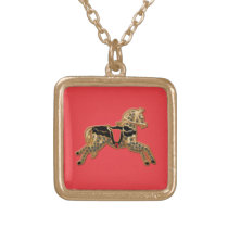 Sadie Spotted Horse Gold Plated Necklace