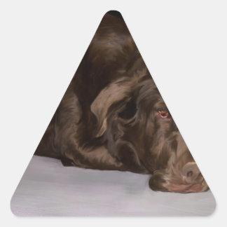 Sadie the Lab Triangle Sticker