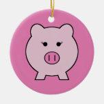 Sadie the Pink Pig Ceramic Ornament
