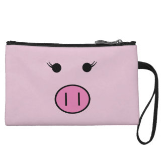 Sadie the Pink Pig Wristlet