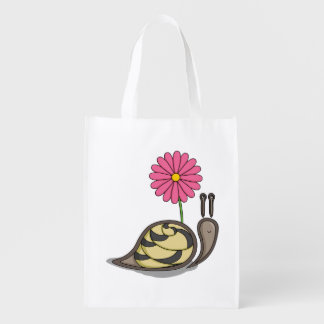 Sadie the Snail Reusable Grocery Bag