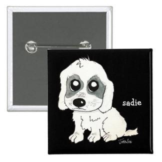 Sadie Watercolor 2 Inch Square Button