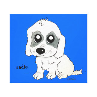 Sadie Watercolor Canvas Print
