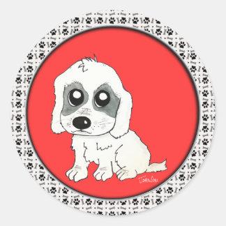 Sadie Watercolor Classic Round Sticker
