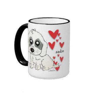 Sadie Watercolor Ringer Coffee Mug