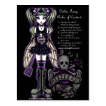 Sadies' Rules of Conduct Gothic Skull Faery Postcard