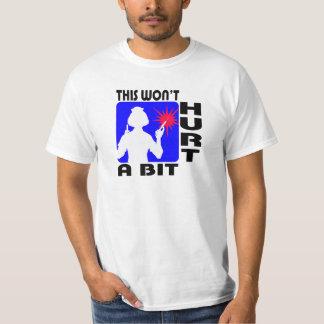 Sadistic Nurse in Blue with 2 Needles T-Shirt