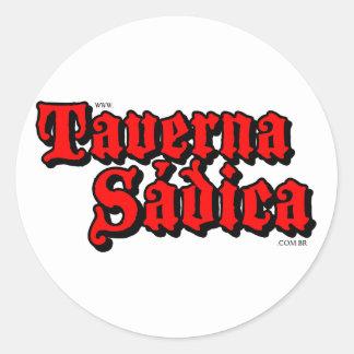Sadistic tavern classic round sticker
