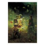 Sadko in the Underwater Kingdom by Ilya Repin Poster
