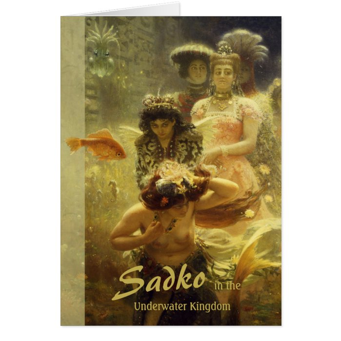 Sadko in the Underwater Kingdom CC0857 Ilya Repin Card