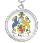 Sadler Family Crest Personalized Necklace