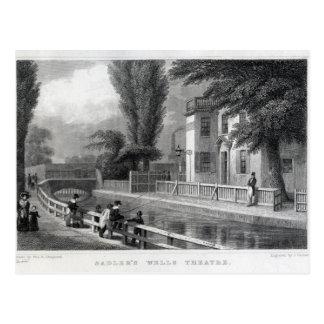 Sadler's Wells Theatre, engraved by J. Garner Postcard