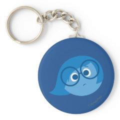 Sadness 2 basic round button keychain