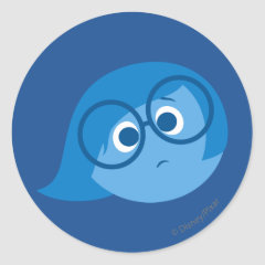 Sadness 2 classic round sticker