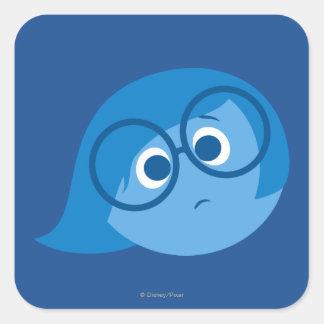 Sadness 2 square sticker