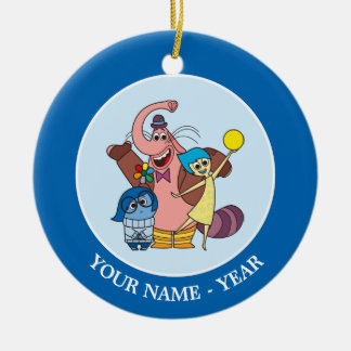 Sadness, Bing Bong and Joy Add Your Name Ceramic Ornament