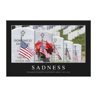 Sadness: Inspirational Quote Canvas Print