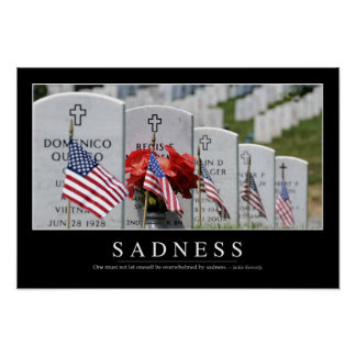 Sadness: Inspirational Quote Poster