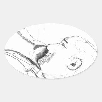 Sadness Oval Sticker