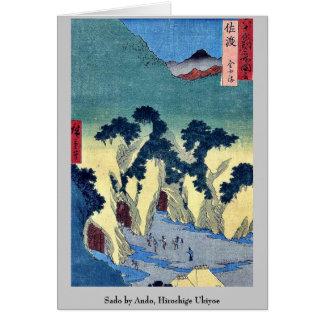 Sado by Ando, Hiroshige Ukiyoe Stationery Note Card