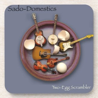Sado-Domestics Two-Egg Scrambler Drink Coasters