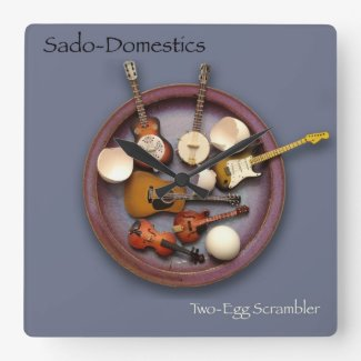 Sado-Domestics Two-Egg Scrambler Wall Clock