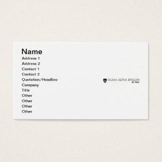 SAE Brand Black Business Card
