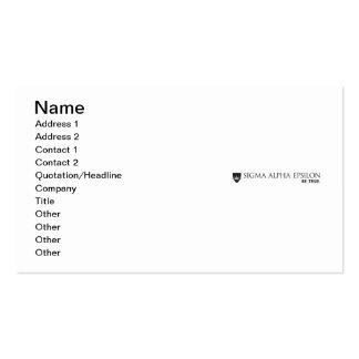 SAE Brand Black Business Card Template