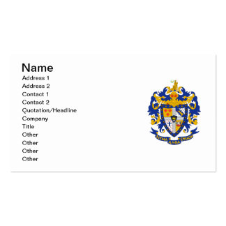 SAE Coat of Arms Color Business Card Templates
