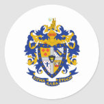 SAE Coat of Arms Color Classic Round Sticker