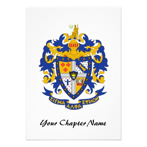 SAE Coat of Arms Color Custom Invite