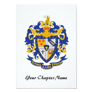 SAE Coat of Arms Color 5x7 Paper Invitation Card