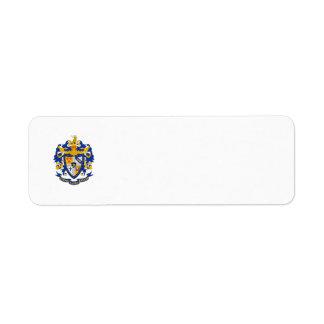 SAE Coat of Arms Color Return Address Label